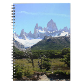A View Of Mount Fitz Roy Notebook