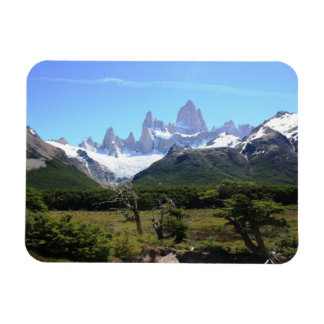 A View Of Mount Fitz Roy Rectangular Photo Magnet