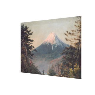 A View of Mount Fusiyama with Figures in the Foreg Canvas Print