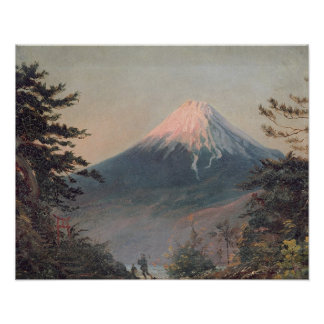 A View of Mount Fusiyama with Figures in the Foreg Poster