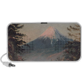 A View of Mount Fusiyama with Figures in the Foreg Mp3 Speakers