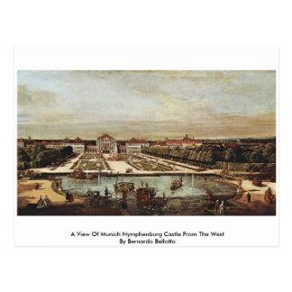 A View Of Munich Nymphenburg Castle Postcard