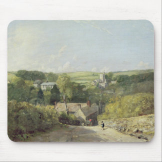 A View of Osmington Village with the Church and Vi Mouse Pad