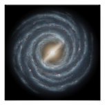 A view of our own Milky Way Galaxy Poster