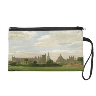 A View of Oxford (oil on millboard) Wristlet Clutches