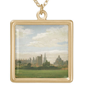 A View of Oxford (oil on millboard) Pendant