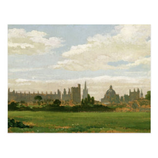 A View of Oxford (oil on millboard) Postcard