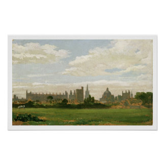 A View of Oxford (oil on millboard) Poster