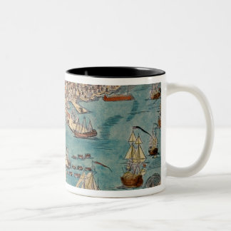 A View of Part of the Town of Boston Two-Tone Coffee Mug