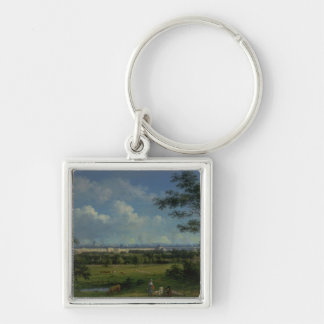 A View of Regent's Park Silver-Colored Square Keychain
