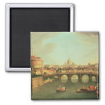 A View of Rome 2 Inch Square Magnet
