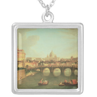 A View of Rome Silver Plated Necklace