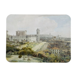 A View of Rome taken from the Pincio, 1776 (w/c ov Rectangular Photo Magnet