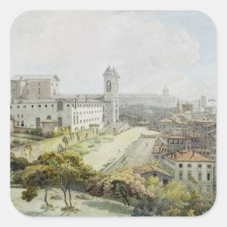 A View of Rome taken from the Pincio, 1776 (w/c ov Square Sticker