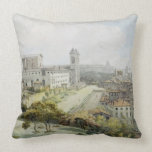 A View of Rome taken from the Pincio, 1776 (w/c ov Throw Pillow