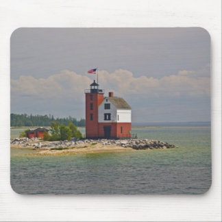 A view of Round Island Light Station. Mouse Pad