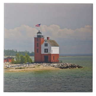 A view of Round Island Light Station. Tile