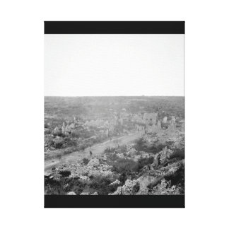 A view of ruins of Avocourt, situated just_War Ima Canvas Print