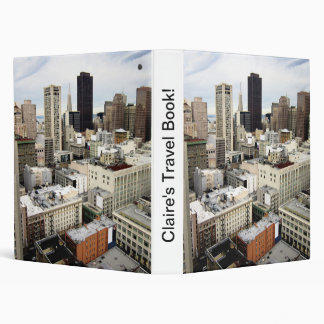 A view of San Francisco's skyline 3 Ring Binder