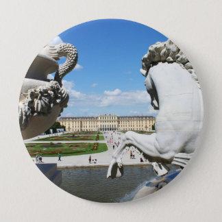 A view of Schonbrunn Palace in Vienna, Austria. Button