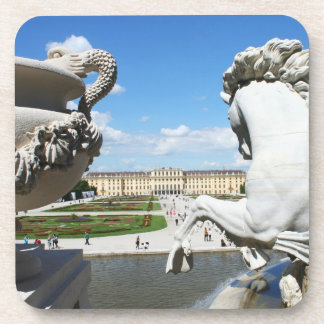 A view of Schonbrunn Palace in Vienna, Austria. Coaster