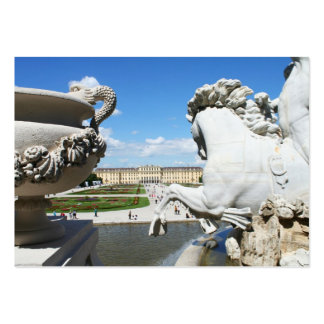 A view of Schonbrunn Palace in Vienna, Austria. Large Business Card