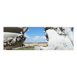 A view of Schonbrunn Palace in Vienna, Austria. Mini Business Card
