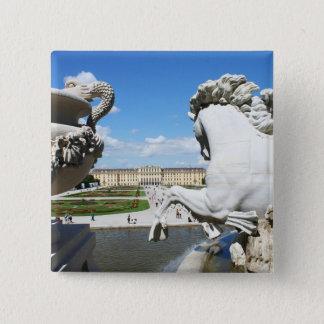A view of Schonbrunn Palace in Vienna, Austria. Pinback Button