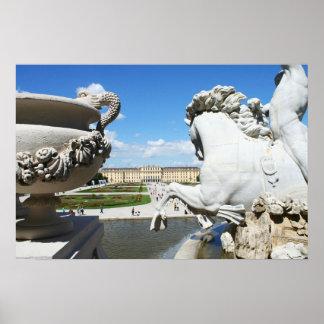 A view of Schonbrunn Palace in Vienna, Austria. Poster