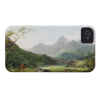 A View of Snowdon from Capel Curig, 1787 (oil on c iPhone 4 Case-Mate Case
