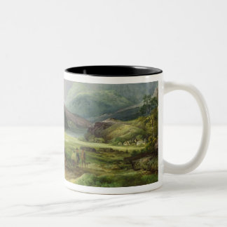 A View of Snowdon from Capel Curig, 1787 (oil on c Two-Tone Coffee Mug