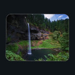 "A view of South Falls in Silver Falls State Park Magnet<br><div class=""desc"">COPYRIGHT Joe Restuccia III / DanitaDelimont.com 