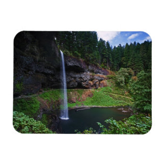 A view of South Falls in Silver Falls State Park Rectangular Photo Magnet