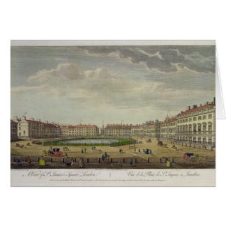 A View of St. James's Square, London, 1753 (hand c Greeting Cards