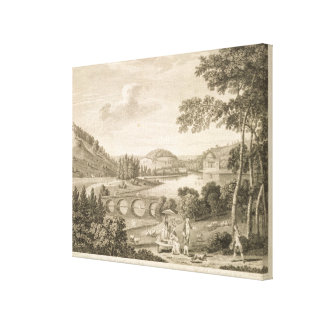 A view of Stour Head in Wiltshire (engraving) Canvas Print