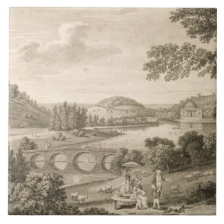 A view of Stour Head in Wiltshire (engraving) Ceramic Tile
