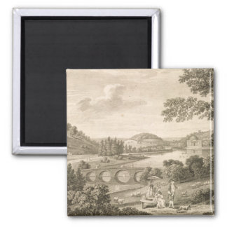 A view of Stour Head in Wiltshire (engraving) Magnet