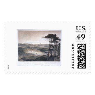 A View of Sutter's Mill and Culloma Valley Postage