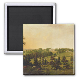 A View of Tapeley Park, Instow, North Devon 2 Inch Square Magnet