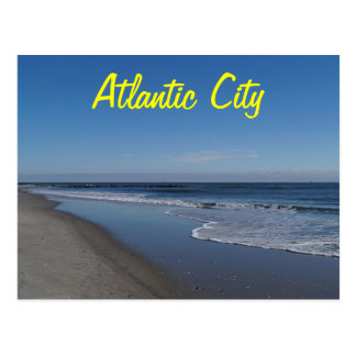 A view of the beach in Atlantic City Postcard