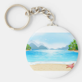 A view of the beach keychain