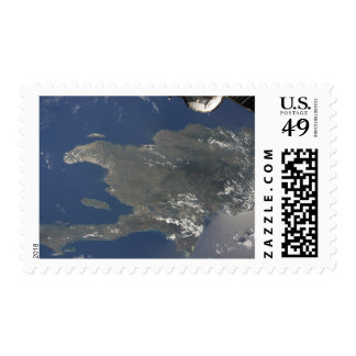 A view of the Caribbean island of Hispaniola Stamp