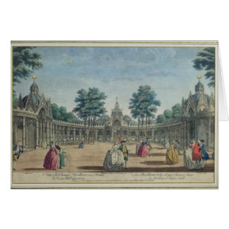 A View of the Chinese Pavilions and Boxes in Vauxh Card