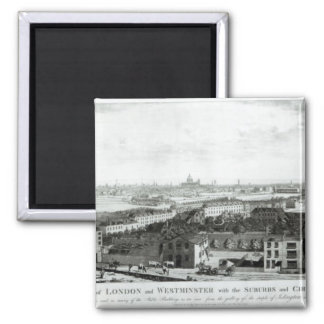 A View of the Cities of London and Westminster Refrigerator Magnet