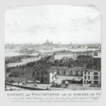 A View of the Cities of London and Westminster Square Sticker