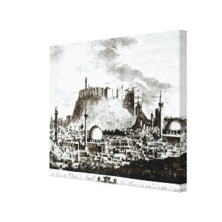 A view of the city and castle of Aleppo, Syria Canvas Print