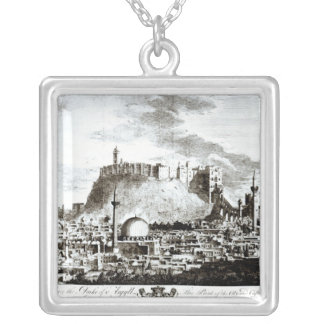 A view of the city and castle of Aleppo, Syria Silver Plated Necklace