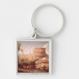A View of the Colosseum with a Traveller, 1731 (oi Keychain