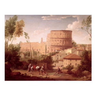 A View of the Colosseum with a Traveller, 1731 (oi Postcard