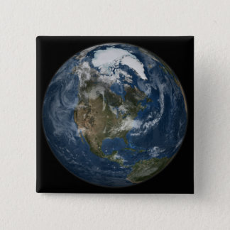 A view of the Earth Pinback Button